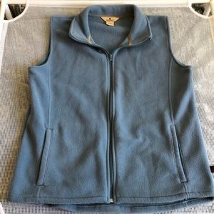 Light blue wool rich vest